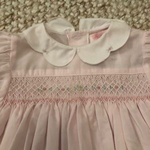 Smocked bubble-pale pink